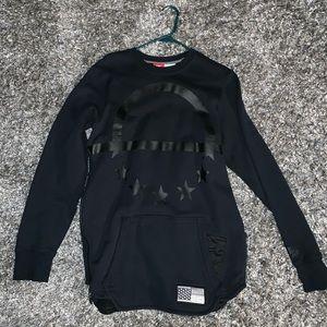 black nike extended crewneck sweatshirt